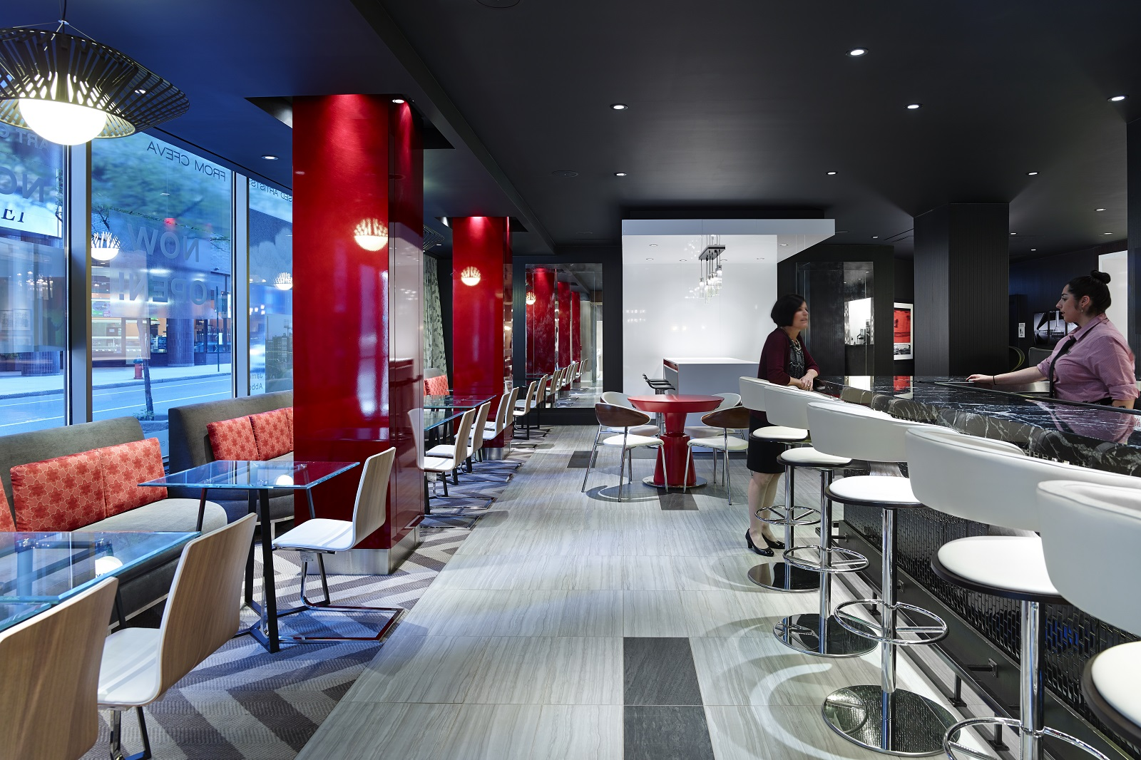 Renovated bar and lounge at Sonesta Hotel Philadelphia