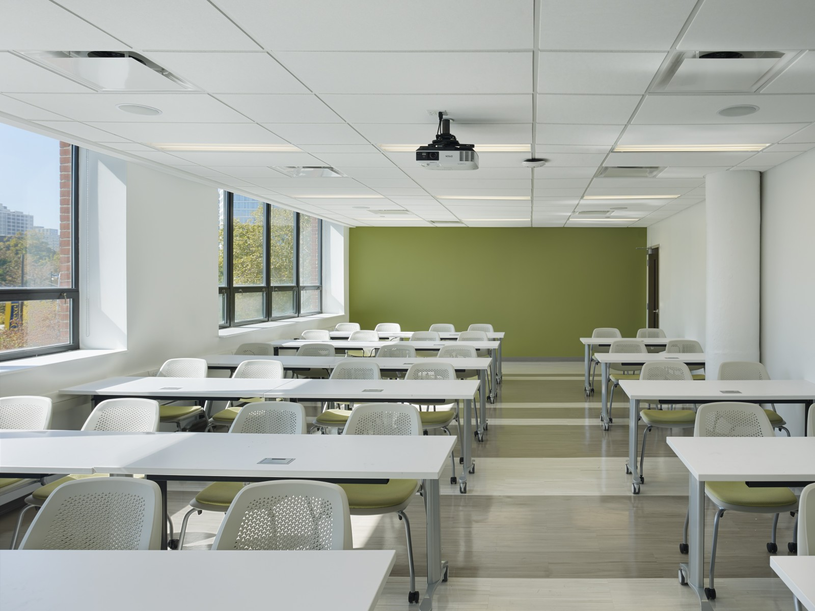 Fit-out of 2nd floor classroom at Drexel PPPSRB