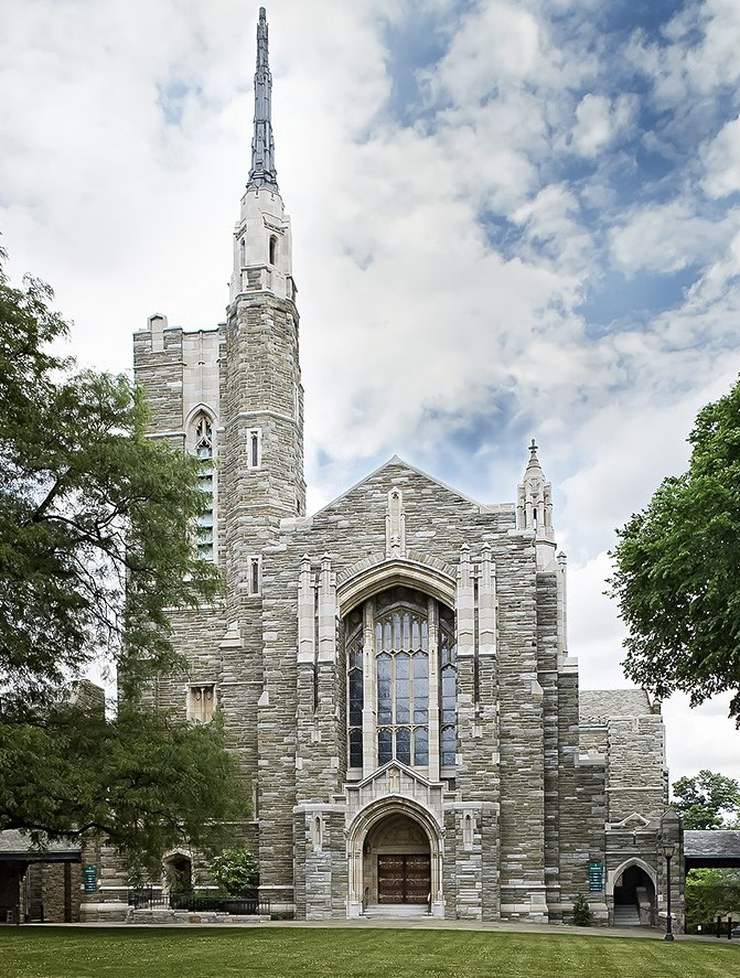 exterior of front of church Bryn Mawr Presbyterian
