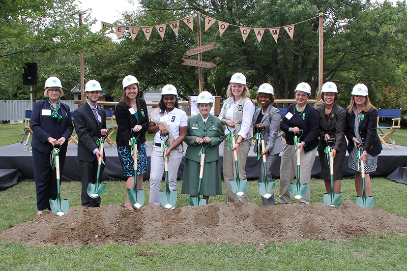 Girls Scouts of Eastern Pennsylvania group-breaking ceremony