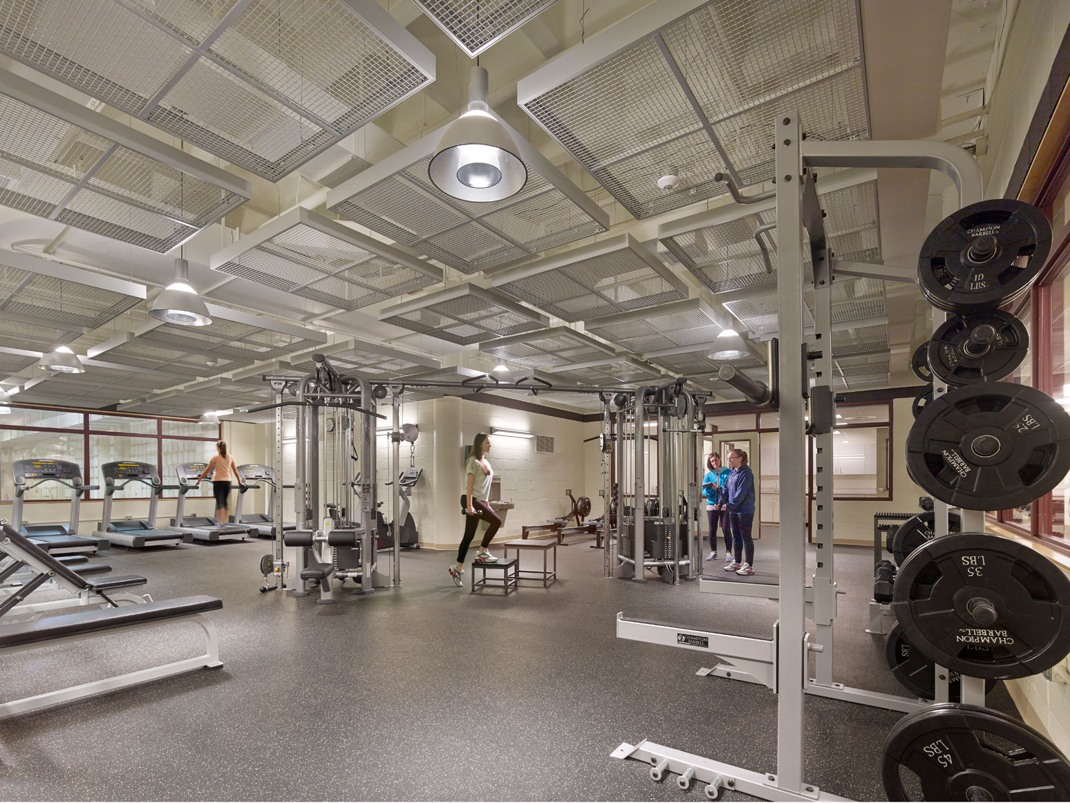 interior image of weight room renovation project management for school construction projects