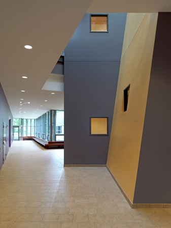 interior of new Brossman Learning Center building on LTS campus