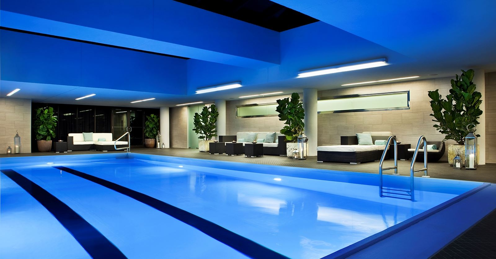Renovated indoor pool at Rittenhouse Spa